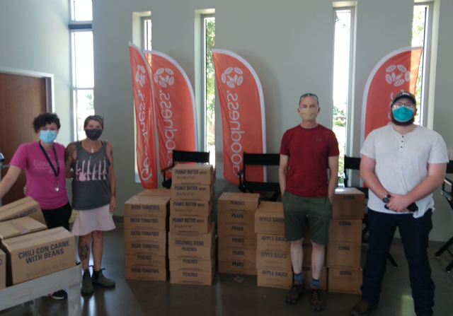Food donation for Mobile Loaves and Fishes